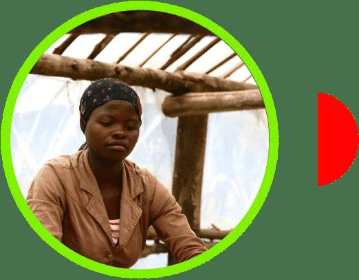 Campesina de café en Ruanda Huye Koakaka