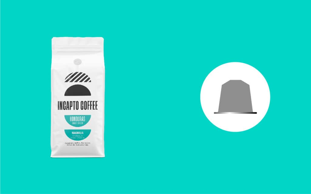 Equilavencia cápsulas café de Honduras