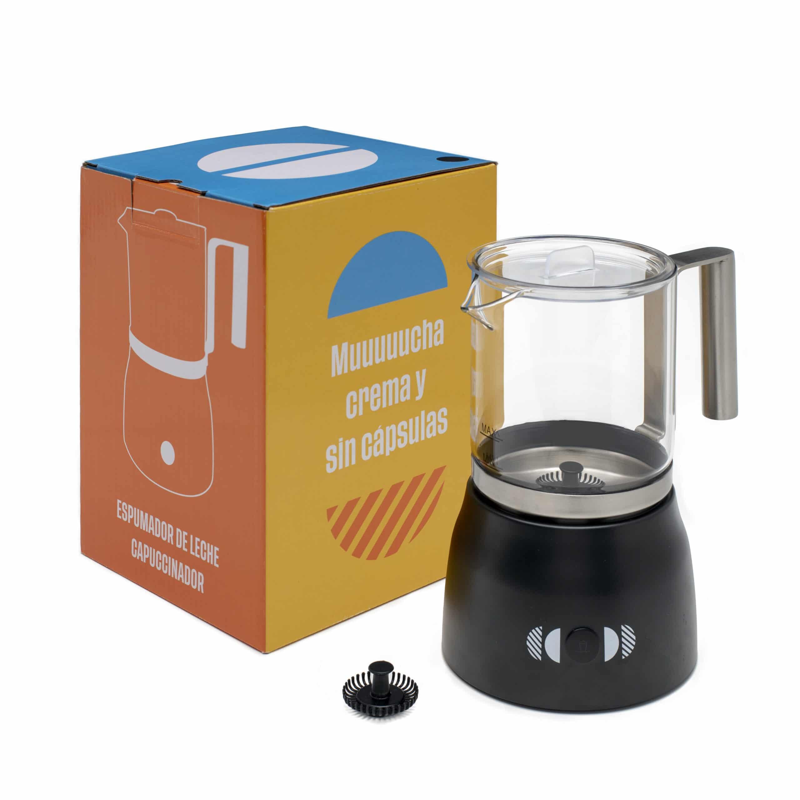 Capuccinador, Espumador, Vaporizador para leche Incapto Coffee color negro