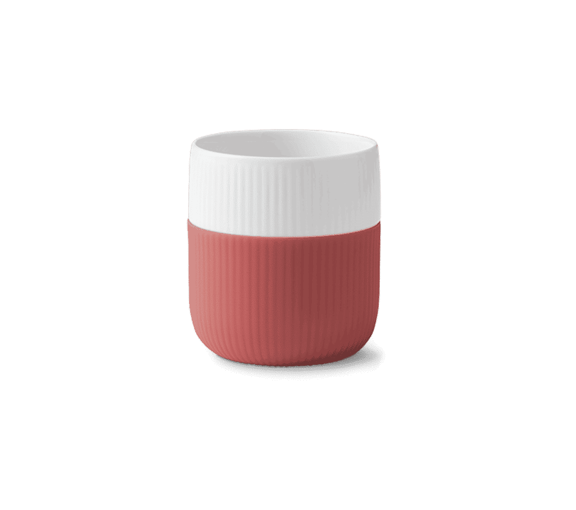 taza rosa porcelana