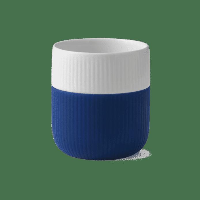tassa de porcellana blava